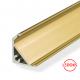 Угловой алюминиевый профиль без экрана золото AP-P314-Z, 2000х17.5х7 мм