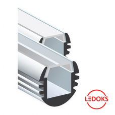 Алюминиевый профиль для светодиодной ленты ALP-04, D18 мм