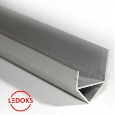 Угловой алюминиевый профиль без экрана AP-СС-040, 1000х18.6х23.6мм