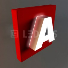 Объемные буквы с эффектом контражура и светящейся лицевой частью