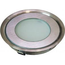 Светодиодный светильник G1030 встраиваемый 4W RGB серебристый