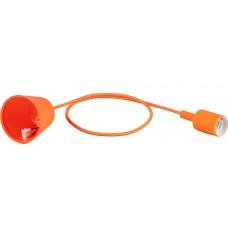 Патрон для ламп со шнуром 1м, 230V E27, оранжевый, LH127 22361
