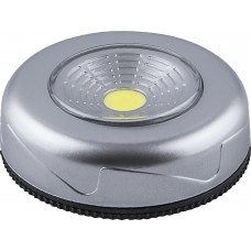 Светодиодный светильник-кнопка FN1204 (1шт в блистере), 2W, серебро