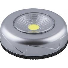Светодиодный светильник-кнопка FN1205 (3шт в блистере), 2W, серебро