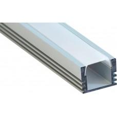 Профиль алюминиевый накладной, серебро, CAB261