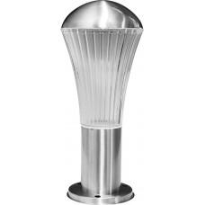 Светильник садово-парковый DH0503, Техно столб, 18W E27 230V, серебро 06181