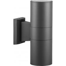 Светильник садово-парковый DH0702, Техно на стену вверх/вниз, 18W 2*E27 230V, серый 06295