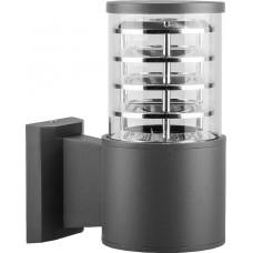 Светильник садово-парковый DH0801, Техно на стену вверх, E27 230V, серый 06301