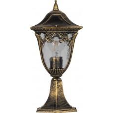Светильник садово-парковый PL4074 четырехгранный на постамент 60W E27 230V, черное золото 11485