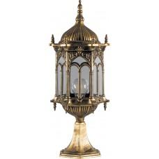 Светильник садово-парковый PL115 шестигранный на постамент 60W 230V E27 черное золото 11306