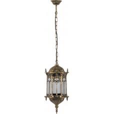 Светильник садово-парковый PL116 шестигранный на цепочке 60W 230V E27 черное золото 11307