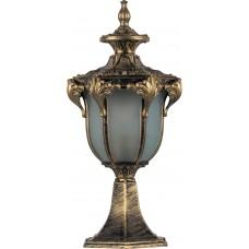 Светильник садово-парковый PL4043 шестигранный на постамент 60W 230V E27, черное золото 11423