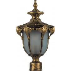 Светильник садово-парковый PL4045 шестигранный на столб 60W 230V E27, черное золото 11425