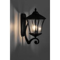 Светильник садово-парковый PL4031 восьмигранный на стену вверх 60W 230V E27, черный 11412