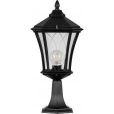 Светильник садово-парковый PL4033 восьмигранный на постамент 60W 230V E27, черный 11414
