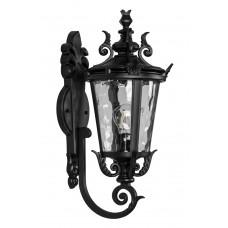 Светильник садово-парковый PL4001 круглый на стену вверх 60W 230V E27, черный 11353