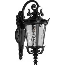 Светильник садово-парковый PL4002 круглый на стену вниз 60W 230V E27, черный 11358