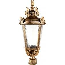 Светильник садово-парковый PL4003 круглый на столб 60W 230V E27, черное золото 11362