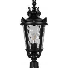 Светильник садово-парковый PL4003 круглый на столб 60W 230V E27, черный 11363