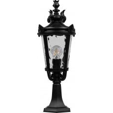 Светильник садово-парковый PL4004 круглый на постамент 60W 230V E27, черный 11368