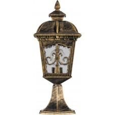 Светильник садово-парковый PL4094 четырехгранный на постамент 60W E27 230V, черное золото 11521