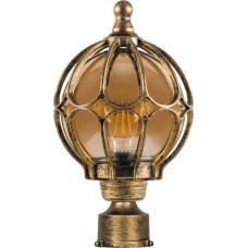 Светильник садово-парковый PL3703 круглый на столб 60W 230V E27, черное золото 11359