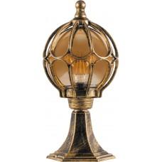 Светильник садово-парковый PL3804 круглый на постамент 60W 230V E27, черное золото 11365