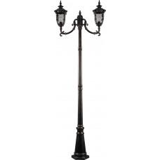 Светильник садово-парковый PL5008 столб круглый 60W 230V E27, темно-коричневое золото 11498