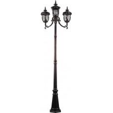 Светильник садово-парковый PL5009 столб круглый 60W 230V E27, темно-коричневое золото 11499