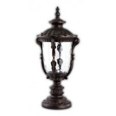 Светильник садово-парковый PL5014 круглый на постамент 100W 230V E27, черное золото 11502