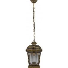 Светильник садово-парковый PL133 четырехгранный на цепочке 100W 230V E27, черное золото 11316