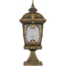 Светильник садово-парковый PL136 четырехгранный на постамент 100W 230V E27, черное золото 11312
