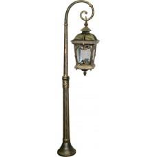 Светильник садово-парковый PL148 столб четырехгранный 100W 230V E27, черное золото 11318