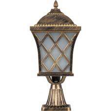 Светильник садово-парковый PL4063 четырехгранный на постамент 100W E27 230V, черное золото 11441