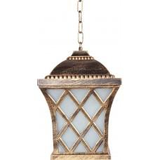Светильник садово-парковый PL4064 четырехгранный на цепочке 100W E27 230V, черное золото 11442