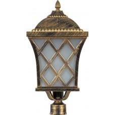 Светильник садово-парковый PL4065 четырехгранный на столб 100W E27 230V, черное золото 11443