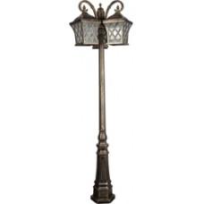 Светильник садово-парковый PL4069 столб четырехгранный 3*100W E27 230V, черное золото 11447