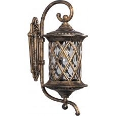 Светильник садово-парковый PL5031 круглый на стену вверх 100W 230V E27, черное золото 11513