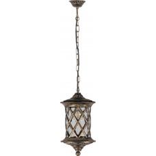 Светильник садово-парковый PL5035 круглый на цепочке 100W 230V E27, черное золото 11514