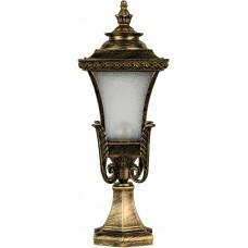Светильник садово-парковый PL4023 четырехгранный на постамент 60W E27 230V, черное золото 11405