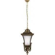 Светильник садово-парковый PL4024 четырехгранный на цепочке 60W E27 230V, черное золото 11406
