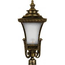 Светильник садово-парковый PL4025 четырехгранный на столб 60W E27 230V, черное золото 11407