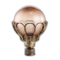 Светильник садово-парковый PL5043 шар на столб 60W E27 230V, черное золото 11546