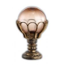 Светильник садово-парковый PL5044 шар на постамент 60W E27 230V, черное золото 11547