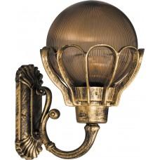 Светильник садово-парковый PL5051 шар на стену вверх 100W E27 230V, черное золото 11553