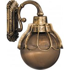 Светильник садово-парковый PL5052 шар на стену вниз 100W E27 230V, черное золото 11554