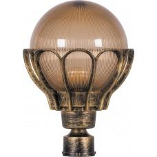 Светильник садово-парковый PL5053 шар на столб 100W E27 230V, черное золото 11555