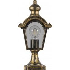 Светильник садово-парковый PL4013 четырехгранный на постамент 60W E27 230V, черное золото 11396