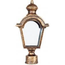 Светильник садово-парковый PL4015 четырехгранный на столб 60W E27 230V, черное золото 11398