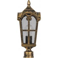 Светильник садово-парковый PL104 четырехгранный на столб 60W 230V E27, черное золото 11296